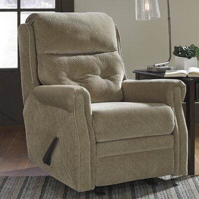 Coralee Manual Glider Recliner Upholstery: Caramel