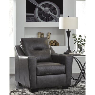 Cabrini Club Chair Upholstery: Dark Gray