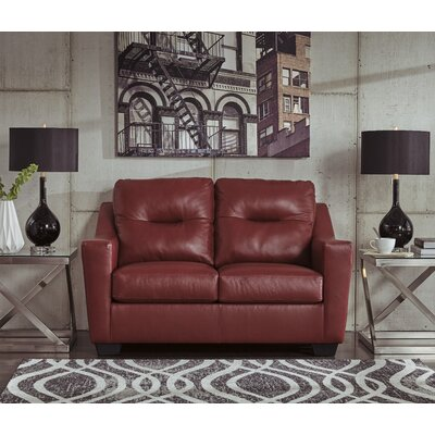 Cabrini Loveseat Upholstery: Red