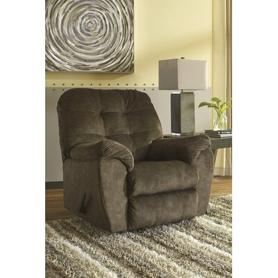 Rupendra Handle Rocker Recliner Upholstery: Brown