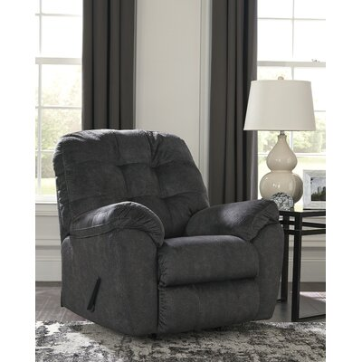 Rupendra Handle Rocker Recliner Upholstery: Dark Gray