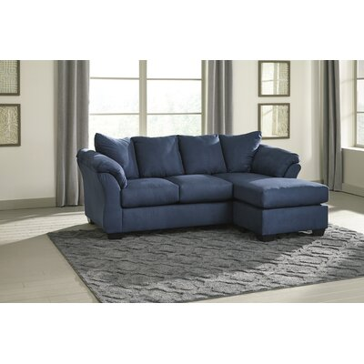 Sagamore Sofa Chaise Upholstery: Blue