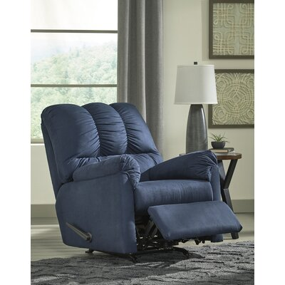 Sagamore Manual Rocker Recliner Upholstery: Blue