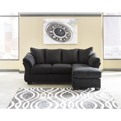 Sagamore Sofa Chaise Upholstery: Black