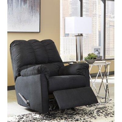 Sagamore Manual Rocker Recliner Upholstery: Black