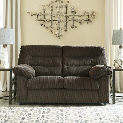 Brierwood Loveseat Upholstery: Chocolate