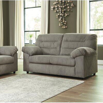 Brierwood Loveseat Upholstery: Gray
