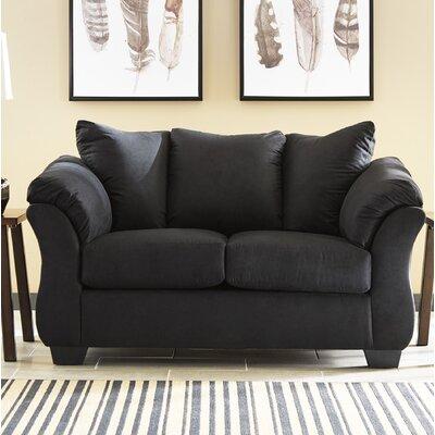 Sagamore Loveseat Upholstery: Black