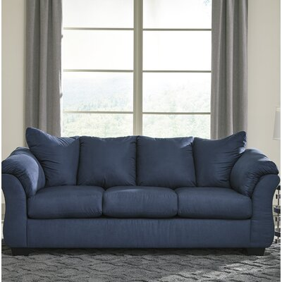 Sagamore Full Sofa Upholstery: Blue