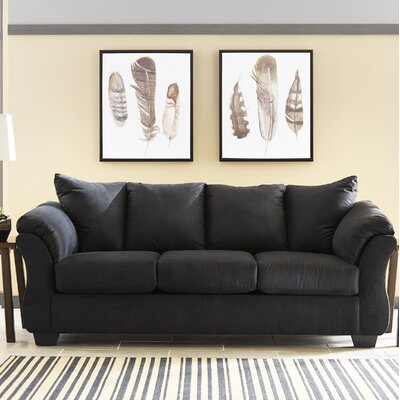 Sagamore Full Sofa Upholstery: Black