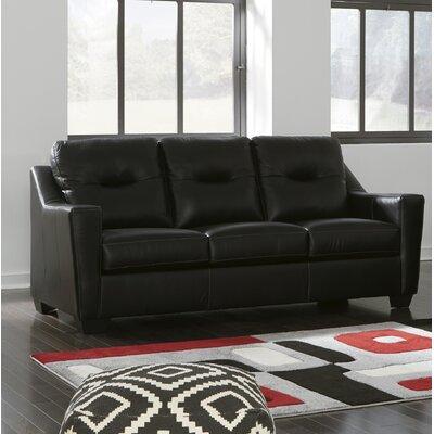 Cabrini Loveseat Upholstery: Black