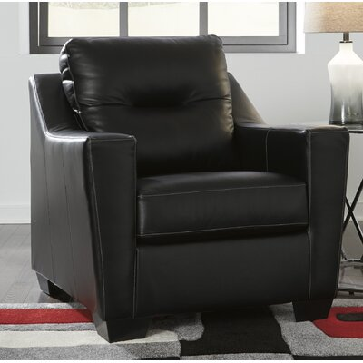 Cabrini Club Chair Upholstery: Black