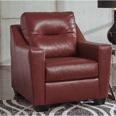Cabrini Club Chair Upholstery: Red