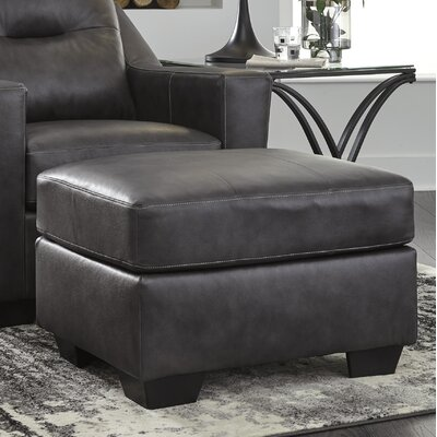 Cabrini Leather Ottoman Upholstery: Dark Gray