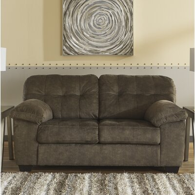 Rupendra Loveseat Upholstery: Brown