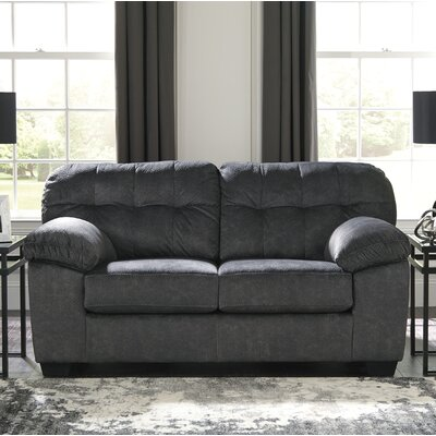 Rupendra Loveseat Upholstery: Dark Gray