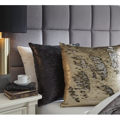 Saffold Throw Pillow Color: Black/Silver