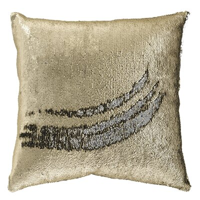 Saffold Throw Pillow Color: Gold/Silver