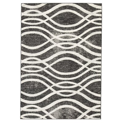 Chestertown Charcoal Gray/White Area Rug Rug Size: 5 x 7
