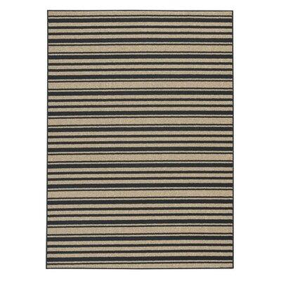 Dinardo Black/Tan Area Rug Rug Size: 5 x 7