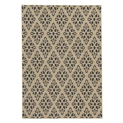 Freshford Tan/Black Area Rug Rug Size: 8 x 10