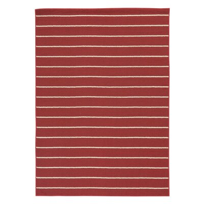Phares Red Area Rug Rug Size: 8 x 10