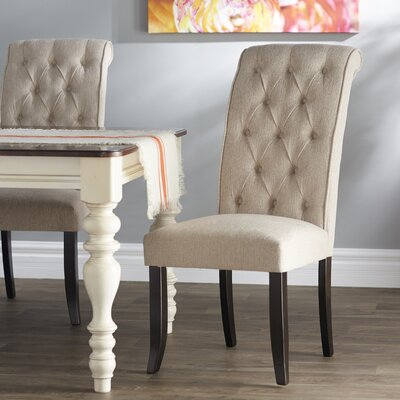 Carville Tufted Side Chair (Set of 2) Upholstery: Linen