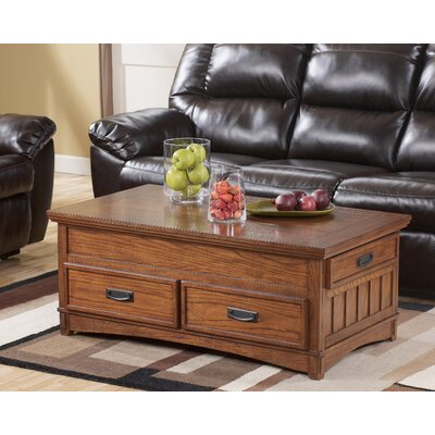 Signature Design By Ashley Castle Hill Trunk Coffee Table With Lift Top  T719 9 GNT2400