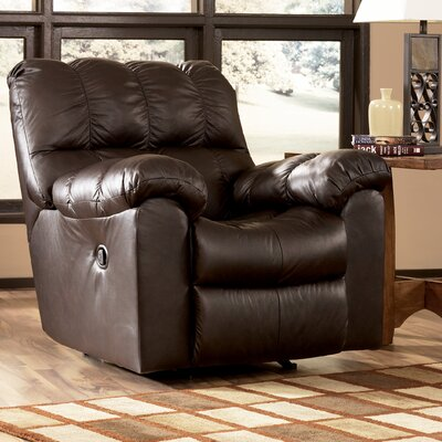 Buy low price signature design by ashley valley leather for Ashley reclining chaise
