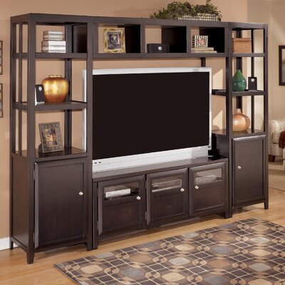 Cheap Signature Design by Ashley Taylor Entertainment Center in Dark Brown (GNT2388)