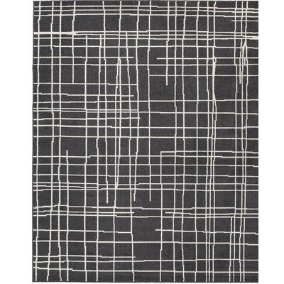 Mcmaster Black/White Area Rug Rug Size: Rectangle 5 x 7