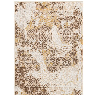 Gritton Ivory/Brown Area Rug