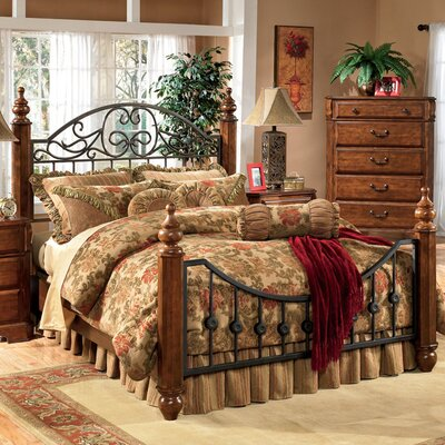 design by ashley vera metal bedroom collection bedroom set mart