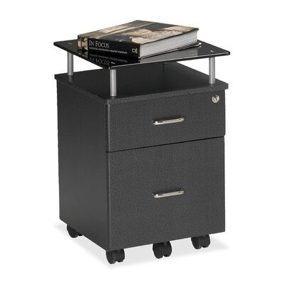 Vision 24 H x 17.25 W Desk File Pedestal Finish: Anthracite / Smoked Black