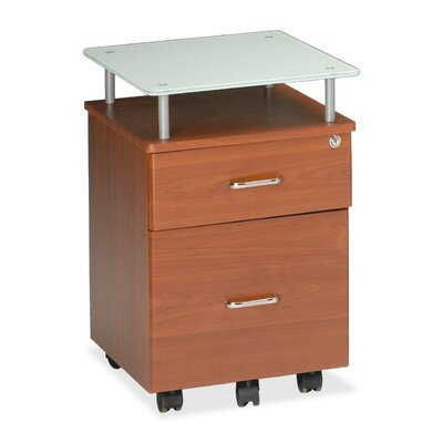 Vision 24 H x 17.25 W Desk File Pedestal Finish: Medium Cherry / White
