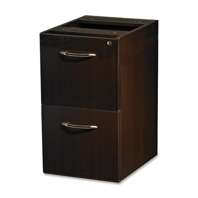27.5 H x 15.25 W Desk File Pedestal Finish: Mocha