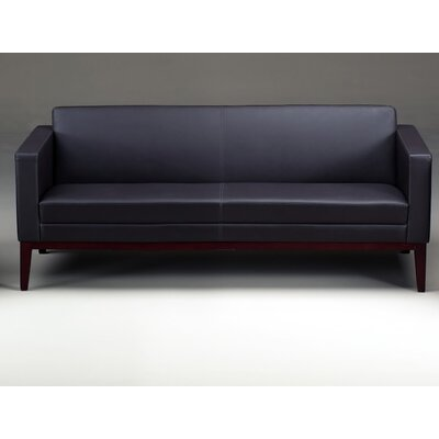 Prestige Leather Sofa Finish: Sierra Cherry, Color: Black