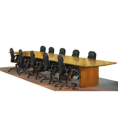 Napoli Curved End Conference Table Finish: Golden Cherry, Size: 18' L