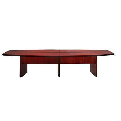 Corsica Series Boat Shaped Conference Table Finish: Sierra Cherry, Size: 14 L
