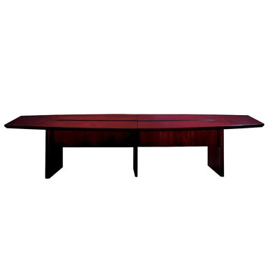 Corsica Series Boat Shaped Conference Table Finish: Mahogany, Size: 12 L