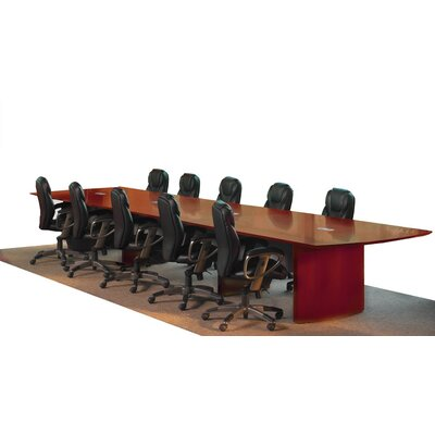Napoli Curved End Conference Table Finish: Sierra Cherry, Size: 18 L