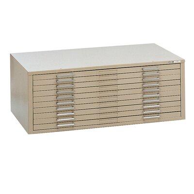 C-Files 10-Drawer Flat�Filing Cabinet Finish: Sand Beige, Size: 15.38 H x 53.75 W x 41.38 D