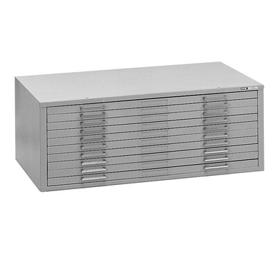 C-Files 10-Drawer Flat�Filing Cabinet Finish: Gray, Size: 15.38 H x 53.75 W x 41.38 D