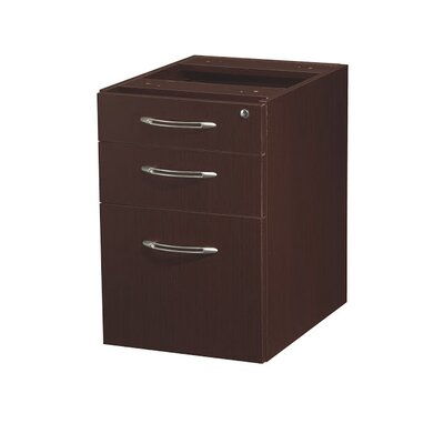 Aberdeen 22.5 H x 15.25 W Desk File Pedestal Finish: Mocha