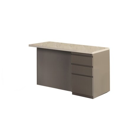 29 H x 48 W Right Desk Return Base Finish: Desert Sage, Top Finish: Classic Rock / Taupe