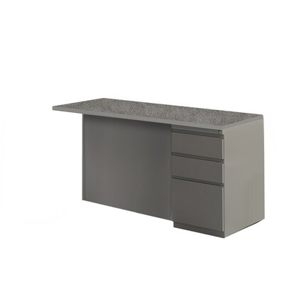 29 H x 48 W Right Desk Return Base Finish: Medium Tone / Greytone, Top Finish: Windswept Pewter / Warm Gray