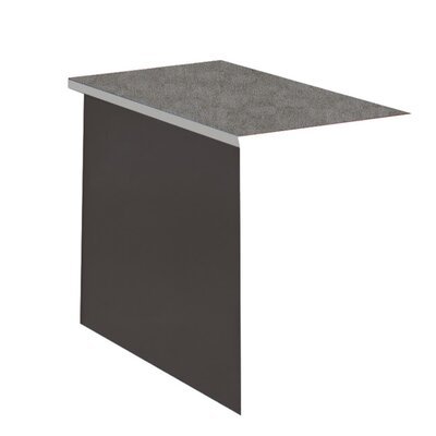 29 H x 42 W Desk Bridge Base Finish: Medium Tone / Greytone, Top Finish: Windswept Pewter / Warm Gray
