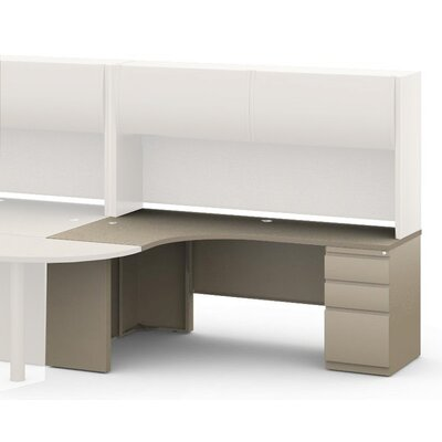 30 H x 72 W Left Desk Return Base Finish: Desert Sage, Top Finish: Classic Rock / Taupe, Orientation: Right