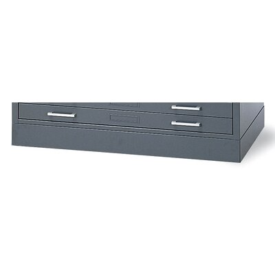 C-Files Flush Base Finish: Gray, Size: 4 H x 53.75 W x 41.38 D