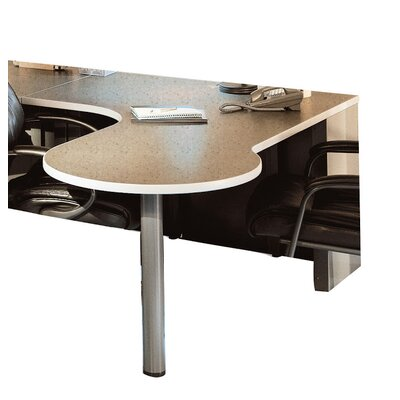 P Table Base Finish: Desert Sage, Top Finish: Classic Rock / Taupe, Orientation: Right